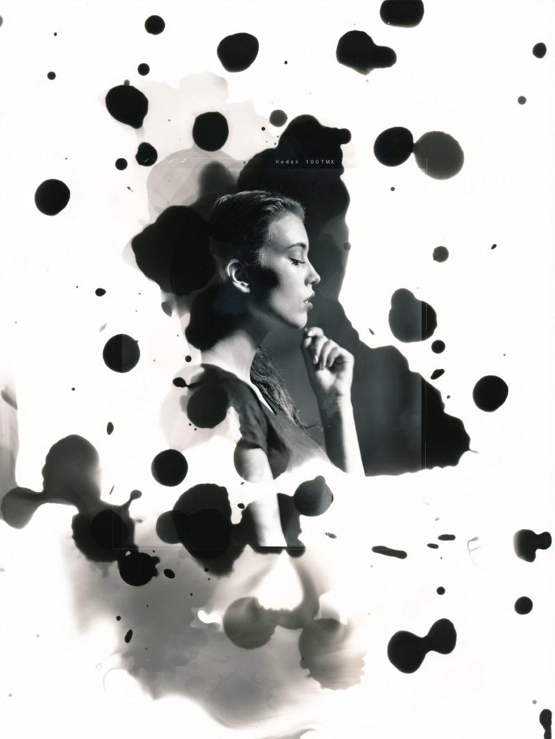 elsa modell mörkrum kreativitet svartvitt studio