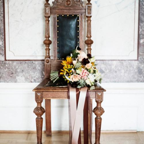 brudbukett på villa överås