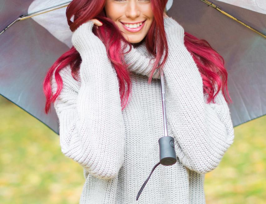 fotografering av modell i regnet