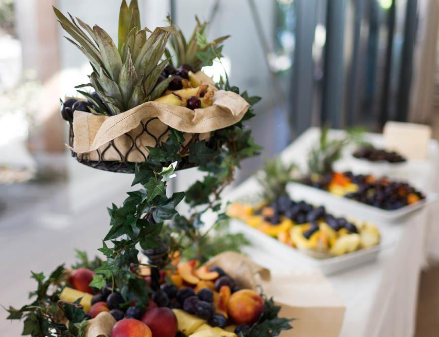 mumsigt fruktbord på Långedrags värdshus - bröllop